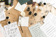 Calligraphy Sheets, Nibs, Pape...