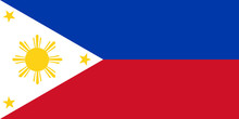 National Flag Of Philippines. Philipines Flag Official Standard Proportion, Color Mode RGB