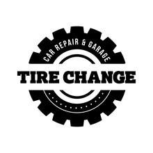 Tire Change Vintage Stamp