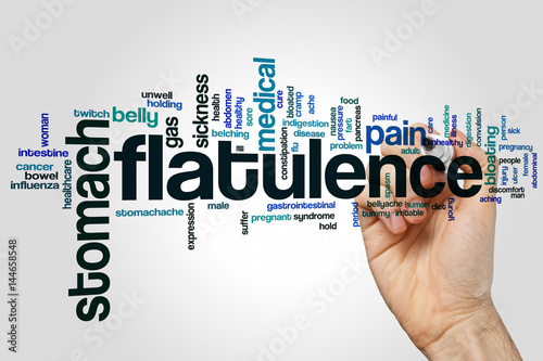 Αφίσα  Flatulence word cloud on grey background