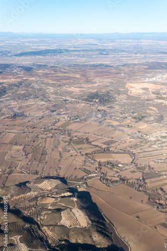Photo  Aerial view of a landscape near Morata de Tajuna town, Spain