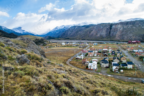 Garden Poster Scandinavia Aerial view of El Chalten village, Argentina