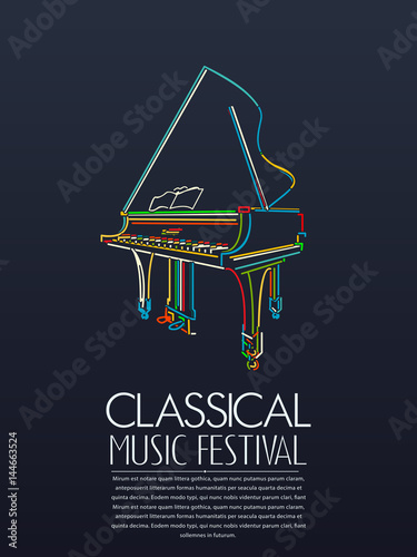 Classical music event poster © Richard Laschon