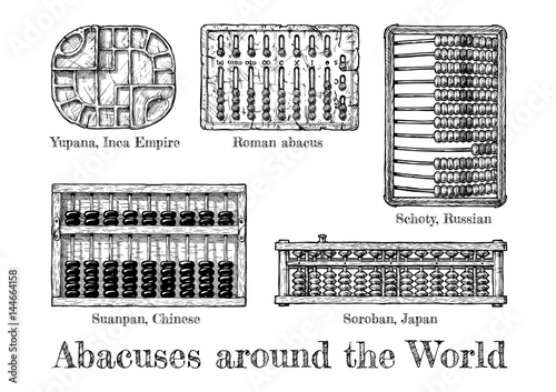 illustration of different  abacus Canvas Print