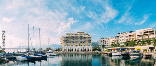 Spoed Fotobehang Amsterdam Regent Hotel, Tivat, Montenegro Porto Montenegro marina