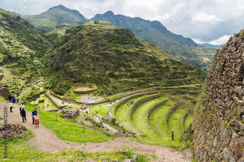 Pisac Peru, ruinas Fototapeta