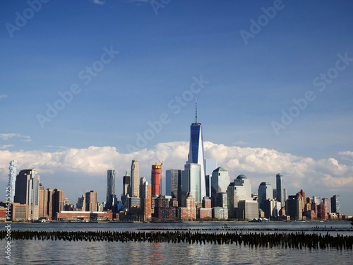 Downtown Manhattan skyline at noon from Hoboken Jersey City