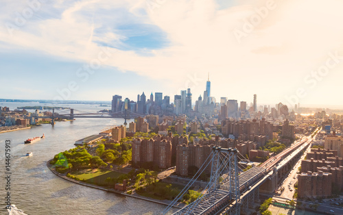 Billede på lærred Williamsburg Bridge over the East River in Manhattan, NY