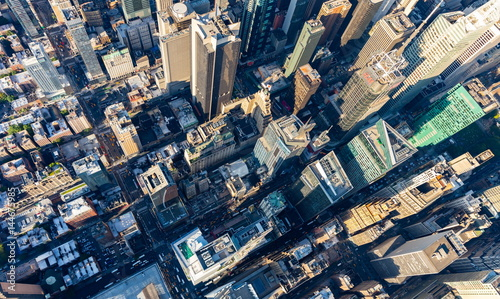 In de dag Luchtfoto Aerial view of Times Square New York CIty at sunset