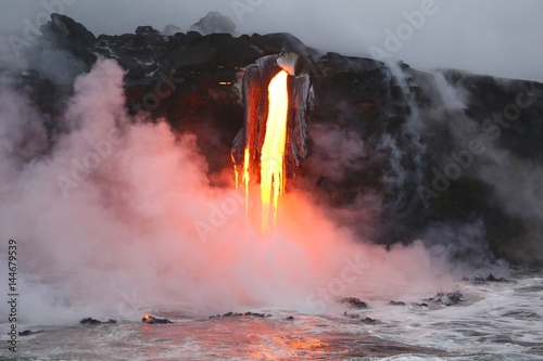 lava-flowing-into-the-ocean