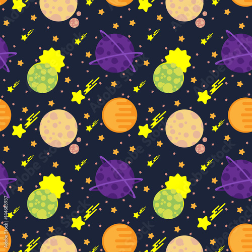 Wzór z kosmicznej planety. Fantazyjny design gwiazdy