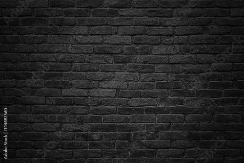 Foto op Plexiglas black brick wall, dark background for design