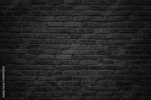 Photo sur Toile Brick wall black brick wall, dark background for design