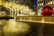 Pool around rockefeller was decorated by lighting in X'mas and new year period