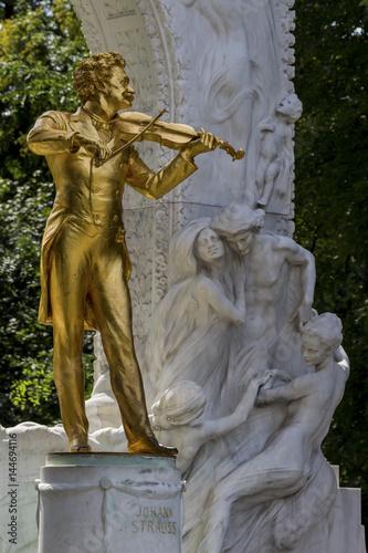 Zdjęcie XXL Austria, Wiedeń, pomnik Johanna Straussa