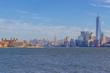 Manhattan&Ellis Island view from liberty island, New York, USA