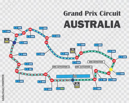 Fotografía  Australian grand prix race track