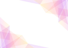 Pink And Yellow Geometric Spectrum Abstract Background, Solf Pink Transparent Layout, Prism Business Template, Vector Illustration