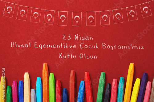 Fotografia  cocuk bayrami 23 nisan , Turkish April 23 National Sovereignty and Children's D