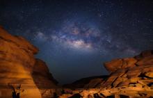 Milky Way At Sam Pan Bok Grand Canyon, Ubon Ratchathani, Thailand