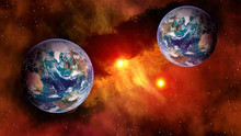 Outer Space Planet Earth Sun A...