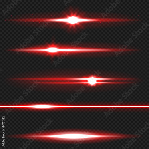 Photo  Red laser beams pack