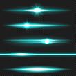 Cyanl aser beams pack
