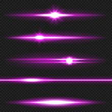 Purple Laser Beams Pack