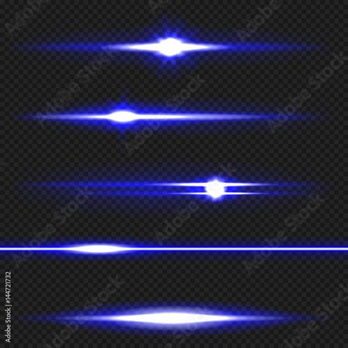 Blue laser beams pack Canvas Print