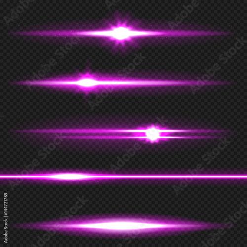 Purple laser beams pack Canvas Print