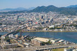 Aerial view of Fukuoka City in Fukuoka, Japan. (福岡航空写真)
