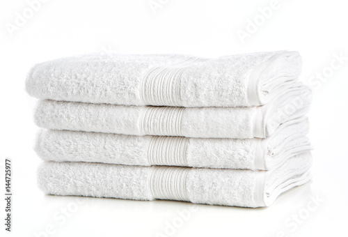 Fotografie, Obraz  White Towels on White Background