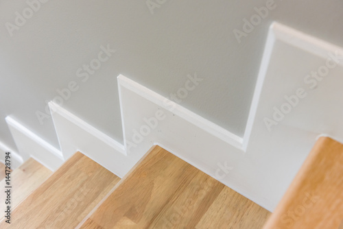 Photo Stands Stairs modern stair design with wooden tread and white riser
