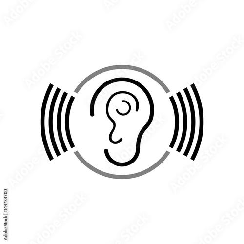 Fotografia, Obraz  Ear vector icon