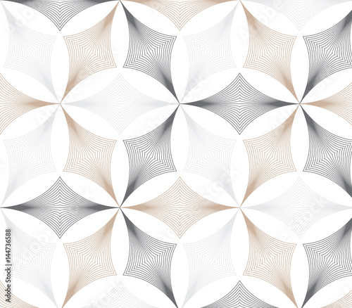 flower pattern vector, repeating linear petal of flower, monochrome stylish