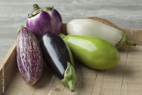 Variety of eggplants