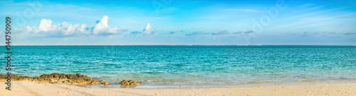 Papiers peints Piscine Pointe d'Esny beach, Mauritius. Panorama