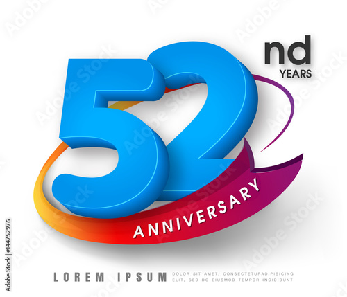 Photo  Anniversary emblems template design