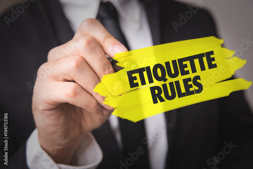 Fotografie, Obraz  Etiquette Rules