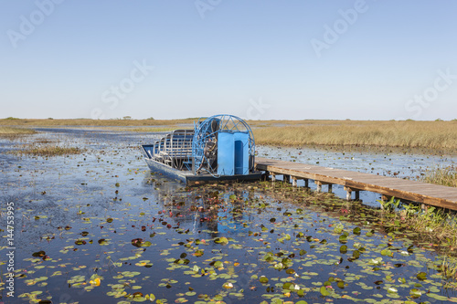 Poster de jardin Parc Naturel Airboat in the Everglades, Florida
