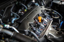 Powerful Engine Of A Car. Inte...