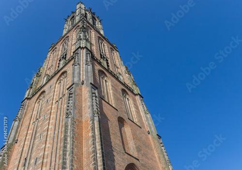 Photo Medieval church tower Onze Lieve Vrouwetoren in Amersfoort