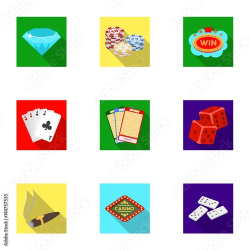 The set of symbols casino games плакат