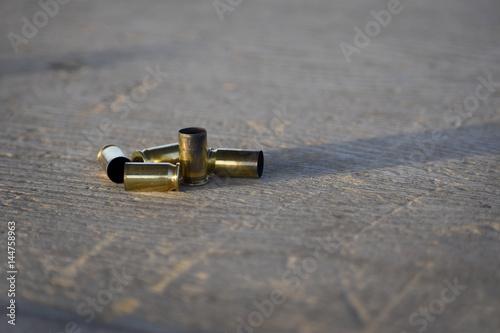 Fotografie, Obraz  Old brass bullet casings