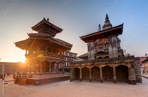 Tuinposter Nepal Bhaktapur city before earthquake, Nepal