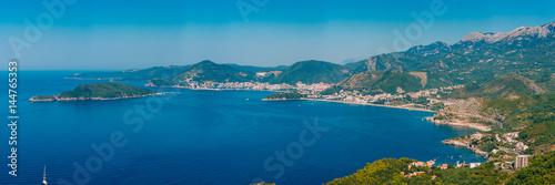 Poster Cote The Budva Riviera in Montenegro. Sea coast of Montenegro.