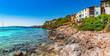 Idyllic coastline on Majorca island Spain Mediterranean Sea Balearic Islands