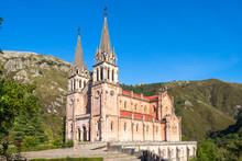Basílica De Santa María La Real De Covadonga Is A Catholic Church Located In Covadonga, Cangas De Onís, Asturias, Spain, That Was Designated As Basilica On 1901