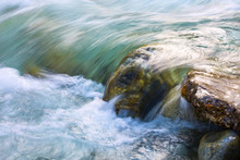 Close Up Of A Waterfall During...