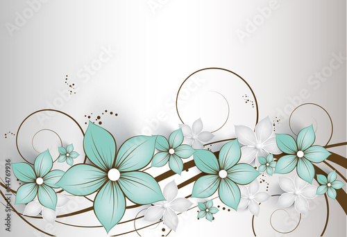 Abstract floral background